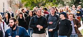 270x120 Students walking across campus